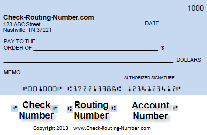 what is bank account number and routing number on checks
